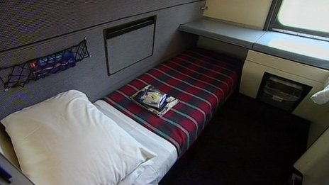 Train sleeper bed