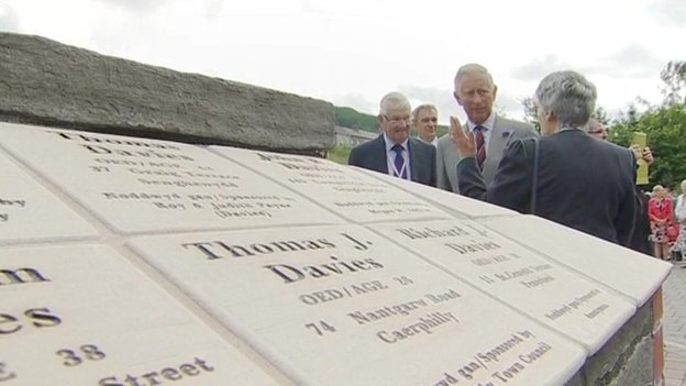 Prince Charles at mining memorial