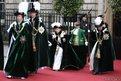 The Princess Royal, the Duke of Cambridge, Queen Elizabeth II and the Duke of Edinburgh arrive at St Giles's Cathedral in Edinburgh