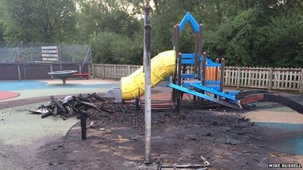 Driotwich Spa Lido playground damage