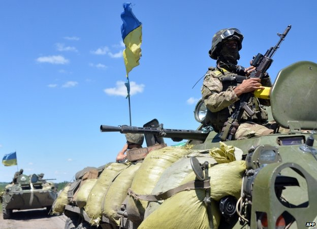 Ukrainian troops in Donetsk region, 3 July