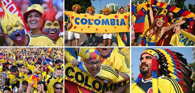 World Cup 2014: Colombia football fans