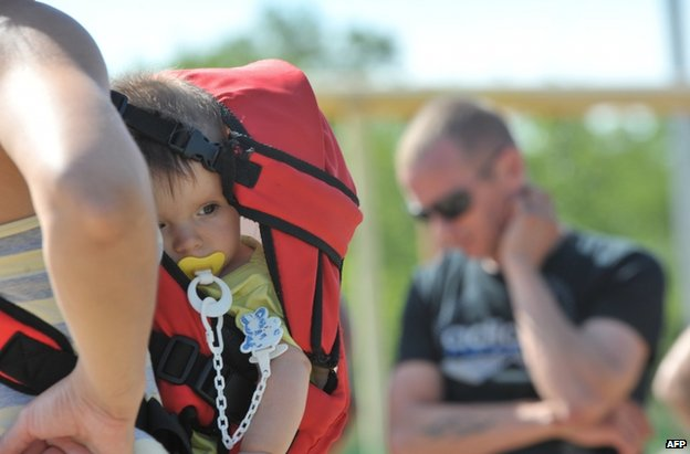 Ukrainian refugees in Rostov, southern Russia, 3 July