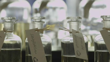 Bottles of scent at MyParfum