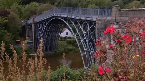 The famous Ironbridge