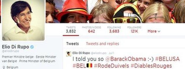 Elio Di Rupo's Twitter feed