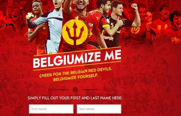 Screengrab of Belgiumizeme website