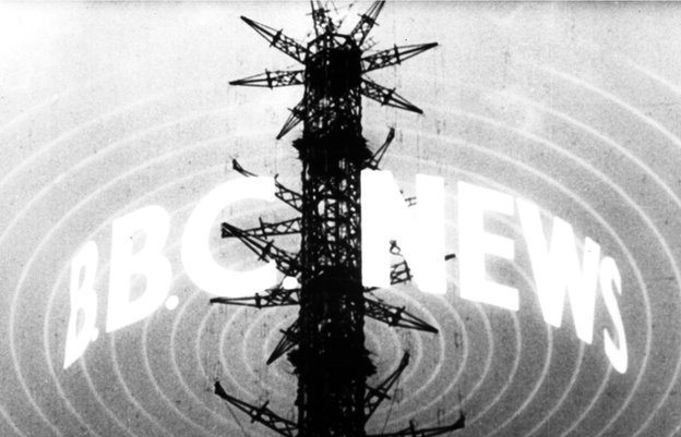 BBC News - the logo for the first news bulletin in 1954