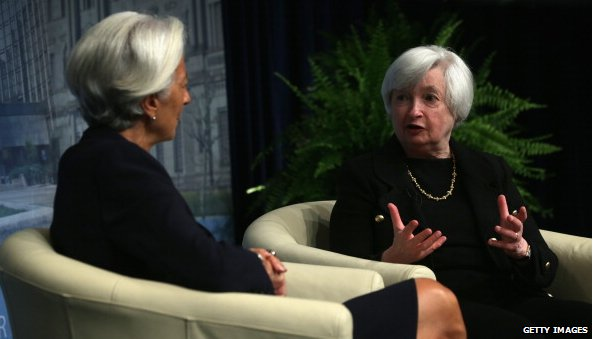 Christine Lagarde and Janet Yellen