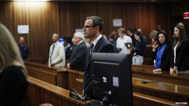 Oscar Pistorius in court, 3 July 2014