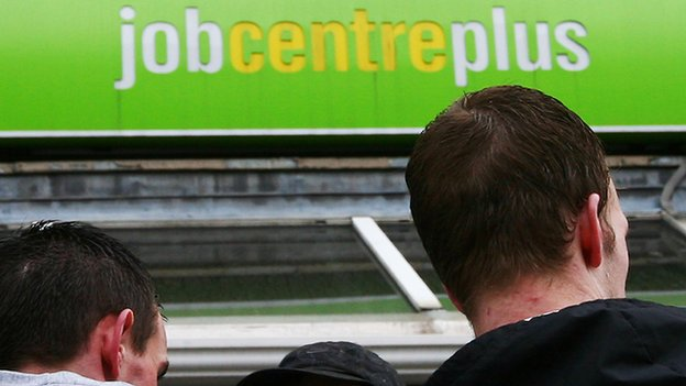 Youths outside job centre