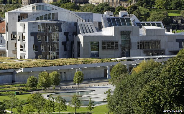 Parliament building in Holyrood