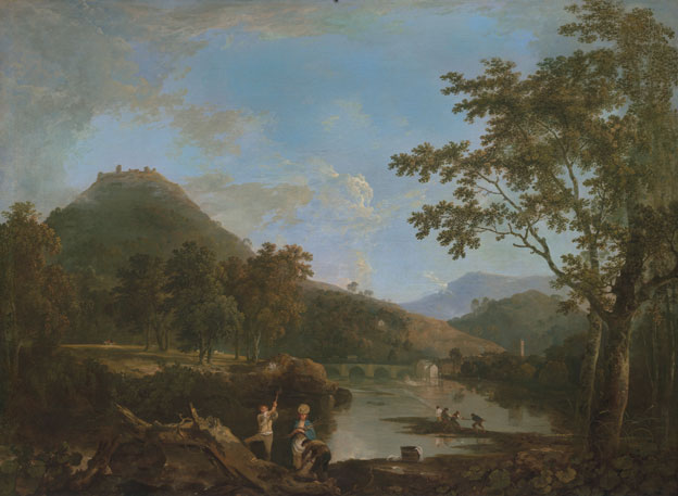 Dinas Bran from Llangollen by Richard Wilson