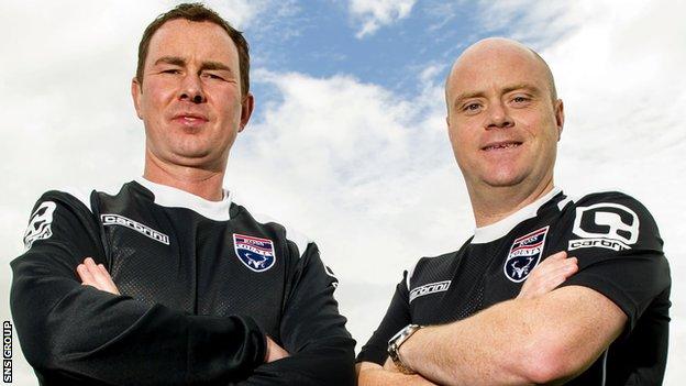 Derek Adams (left) will work closely with Steven Ferguson