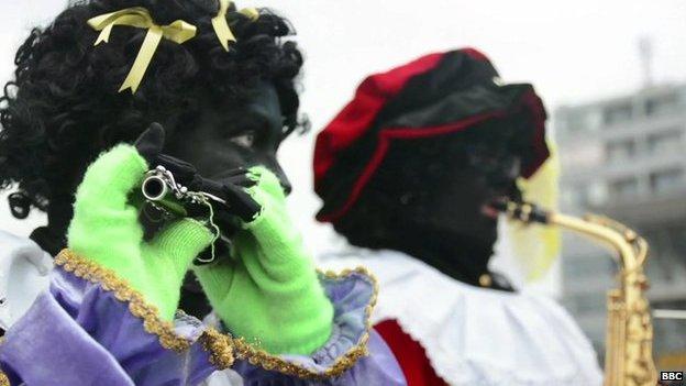 People dressed as Black Petes