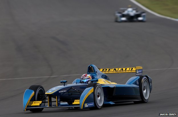 Formula E car at Donington