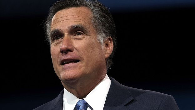 Mitt Romney speaks at a conservative convention.