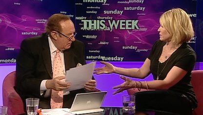 Andrew Neil and Chelsea Handler