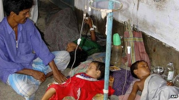 File photo of Indian children suffering from diarrhoea