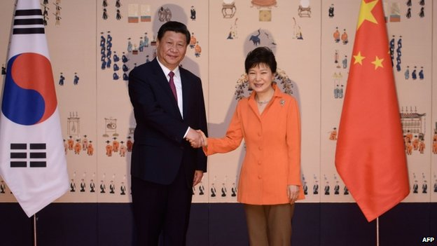 Xi Jinping and Park Geun-hye have pledged to further boost Seoul-Beijing ties
