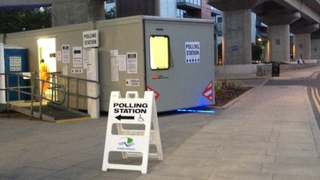 Polling station in  Blackwall and Cubitt Town ward