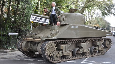Sherman tank in Clifton