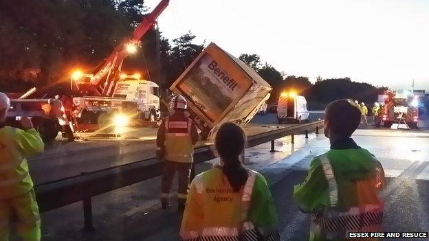 M11 accident