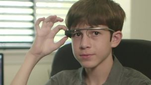 Thomas Suarez with Google glass