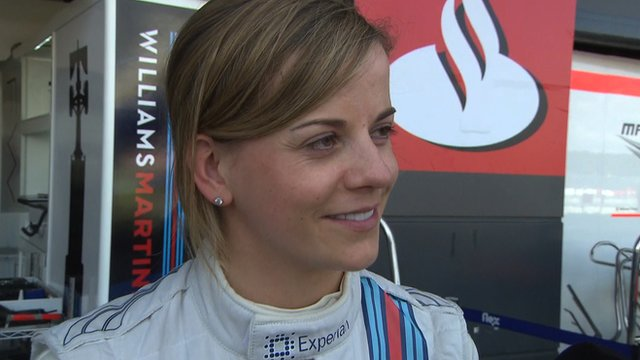 Susie Wolff's debut ended early