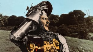 Errol Flynn as the Black Prince in the film The Dark Avenger, 1955