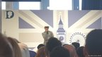 Adam Deacon speaking at the event