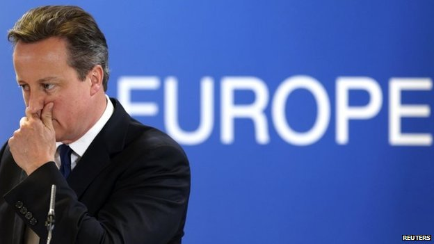 David Cameron at EU summit