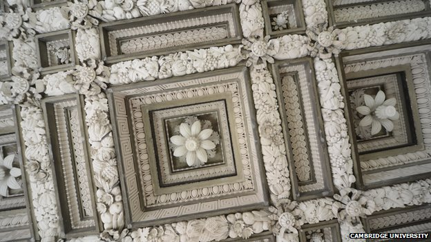 Restored museum ceiling