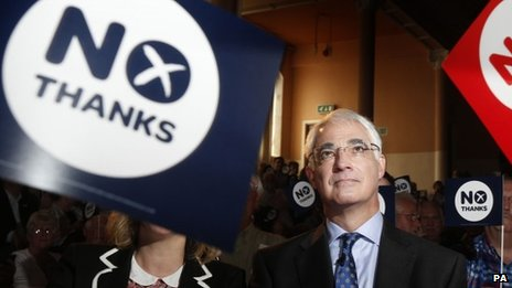 "Better Together leader Alistair Darling launches the organisation""s 100 Days to Go campaign"
