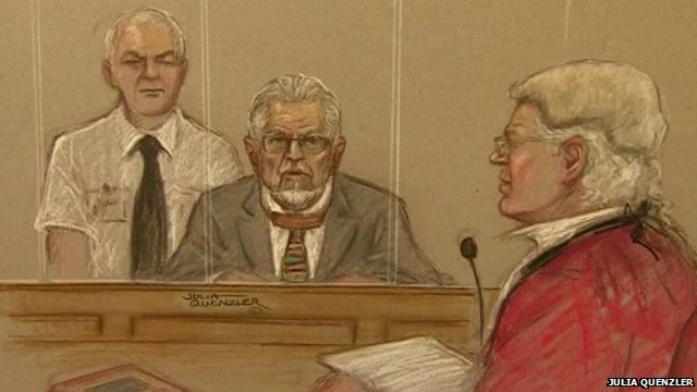 Court sketch of Rolf Harris (c)