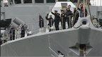 Crew onboard HMS Somerset