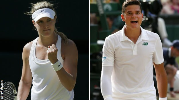 Eugenie Bouchard and Milos Raonic