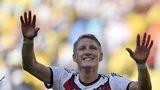 Bastian Schweinsteiger celebrates