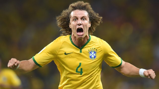 Brazil's David Luiz scores a brilliant free-kick against Colombia