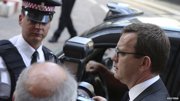 Andy Coulson arrives for sentencing at the Old Bailey
