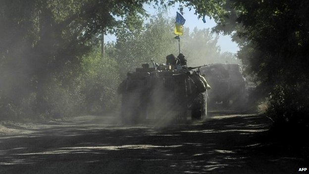 Ukrainian forces near Sloviansk, 4 July