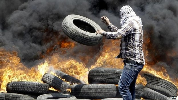 Protesters near Nablus, 4 July