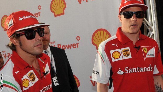 Fernando Alonso (left) and Kimi Raikkonen