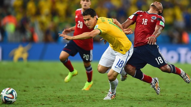 Brazil v Colombia in World Cup quarter-final