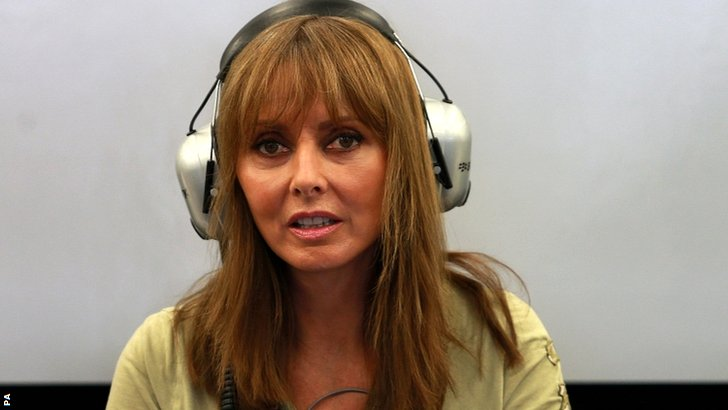 Carol Vorderman at the British GP