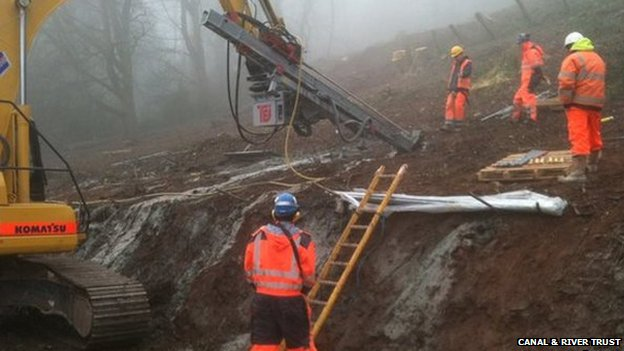Monmouthshire and Brecon Canal repairs