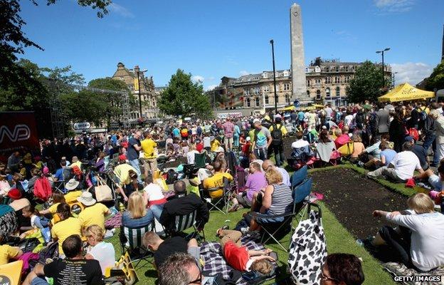Spectators in Harrogate