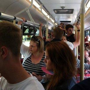 bus crowd