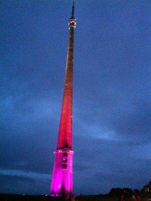 emley moor tower
