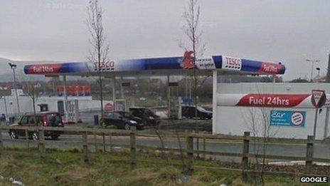 Haslingden petrol station